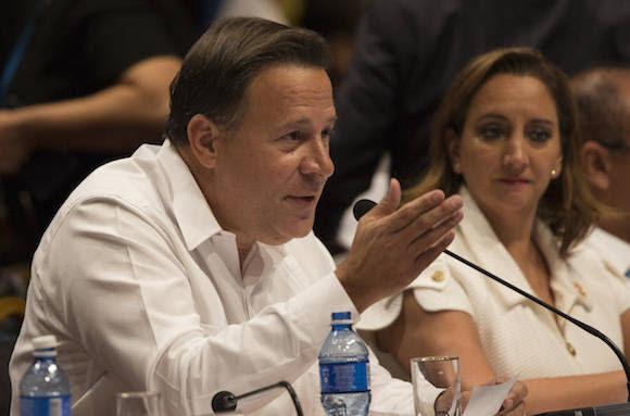 Interviene el Presidente de Panamá, Juan Carlos Varela, en la Cumbre de la AEC. Foto: Ismael Francisco/ Cubadebate