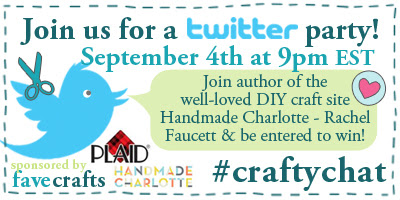 Twitter Party with Handmade Charlotte & Plaid