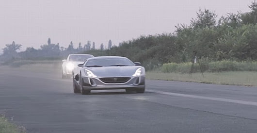 Rimac Concept One humiliates a Tesla S P90D Ludicrous and a LaFerrari in a quarter mile drag race