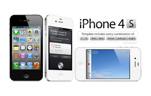 High Resolution iPhone 4/4S PSD Template, vector file - 365PSD.com