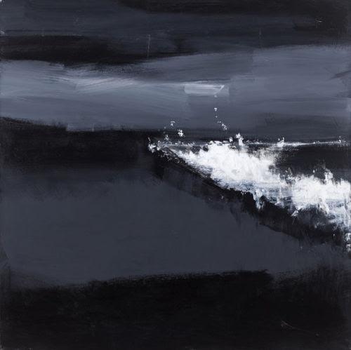 John Virtue. Norfolk No. 14. Acrylic, black ink and shellac on canvas, 190.5 x 190.5, 2009 Photo: Courtesy Marlborough Fine Art