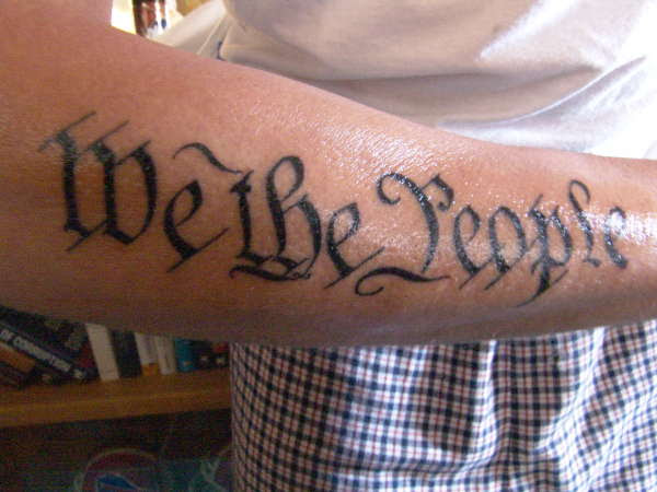 We The People Forearm Tattoo 60 We The People Tattoo Designs For