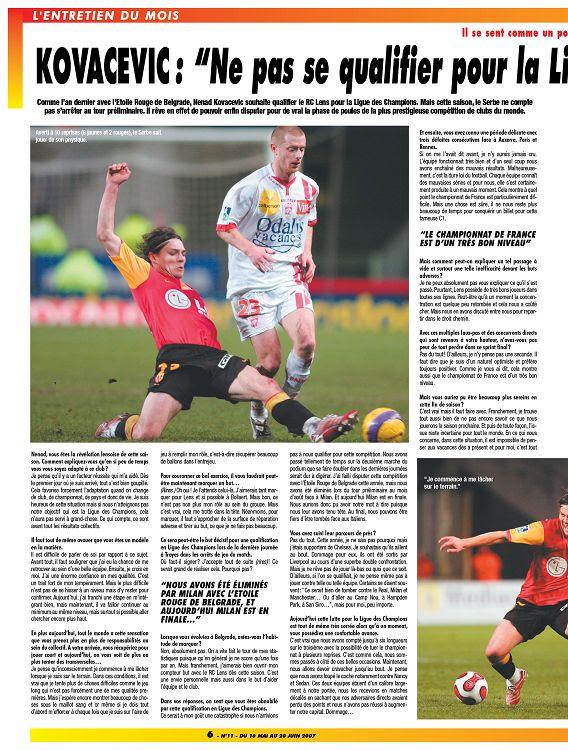 Le Foot Nord Pas De Calais N11 Juin 2007 Page 6 7 Le