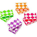 Snake Twist Puzzles - 8-Pack Twist Puzzle, Snake Puzzles for Kids, Snake Cubes, Non-Toxic ABS Plastic, Multicolored, 2.3 x 1.6 x 0.6 Inches