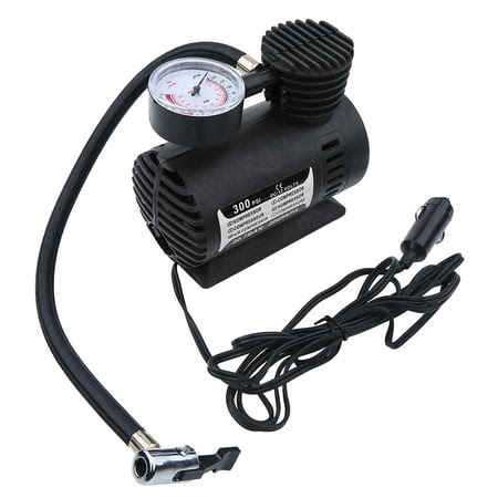 Portable Mini Air Compressor Electric Tire Infaltor Pump 12 Volt Car 300 Psi12v Mini Air