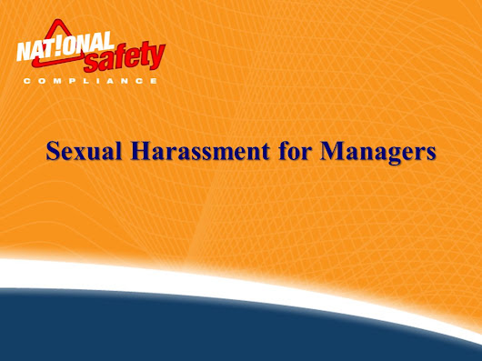 Sexual Harassment for Managers. Definition: According to the EEOC, sexual harassment is defined as: Any unwelcome sexual advances, Requests for sexual. -  ppt download