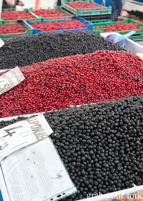 blackcurrants redcurrants at Zhenski Pazar Jenski Pazar Women's Market Sofia