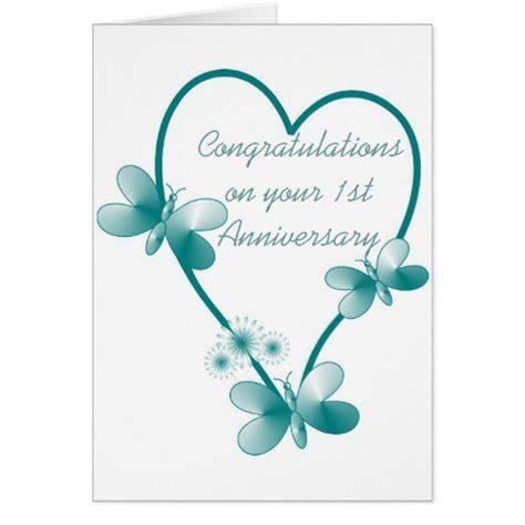 1st Wedding Anniversary Invitations Templates