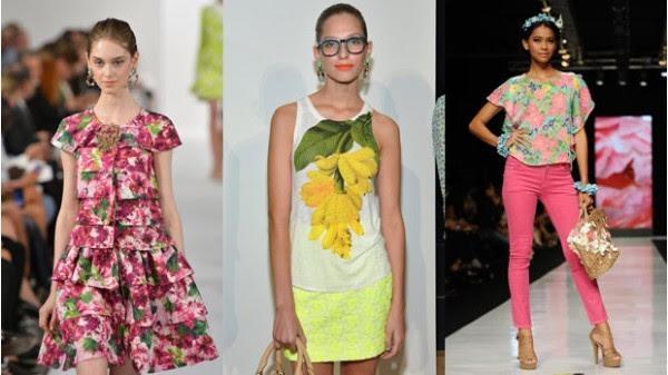 estampas florais entre as tendências para a Primavera Verão 2015