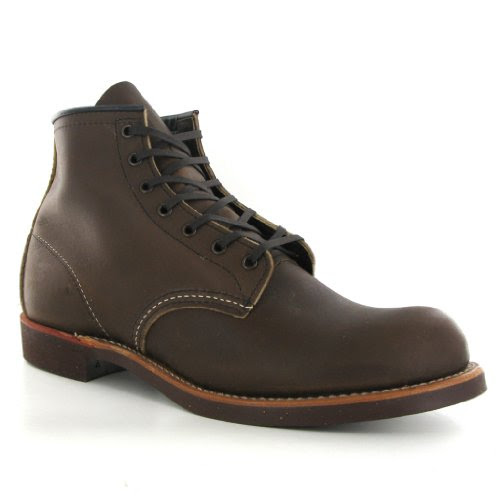 Red Wing 6-Inch Round 09161 Brown Leather Mens Boots Size 8 UK