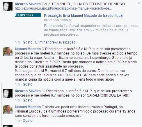 10295817 640850915986988 1417940918256326737 n 1 Gabou se no Facebook que o seu processo prescreveu e que ficou com 6.7 milhões de euros