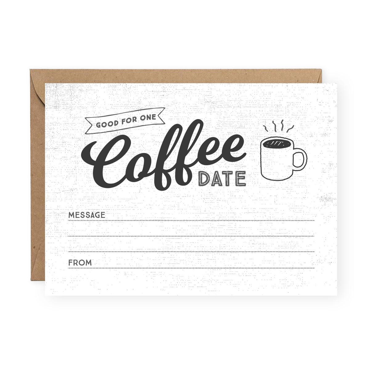 Coffee Date Greeting Card - Friendship Card - The Anastasia Co.