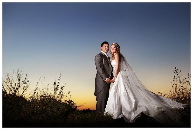 Weddings at Fanhams Hall 20, Off camera flash wedding portrait
