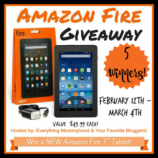 "Amazon Fire 7"" Tablet Giveaway (FIVE) Winners!! - My DairyFree..."