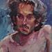 Jorge Sermini-Melissa Grimes oil painting