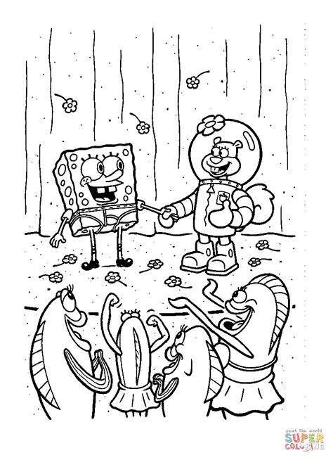 Spongebob Full Page Coloring Pages