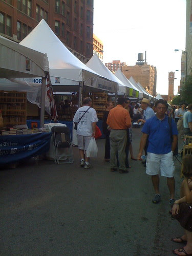 Amid the Printers Row Book Fair tents