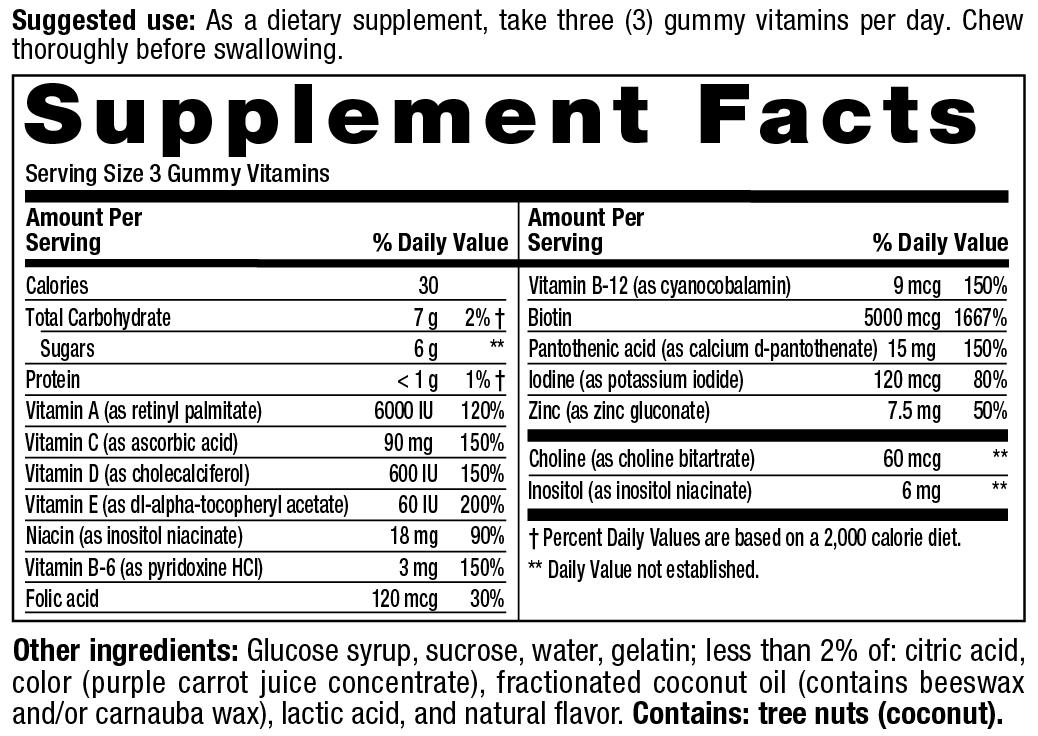 Vitafusion Hair Skin And Nails Gummies