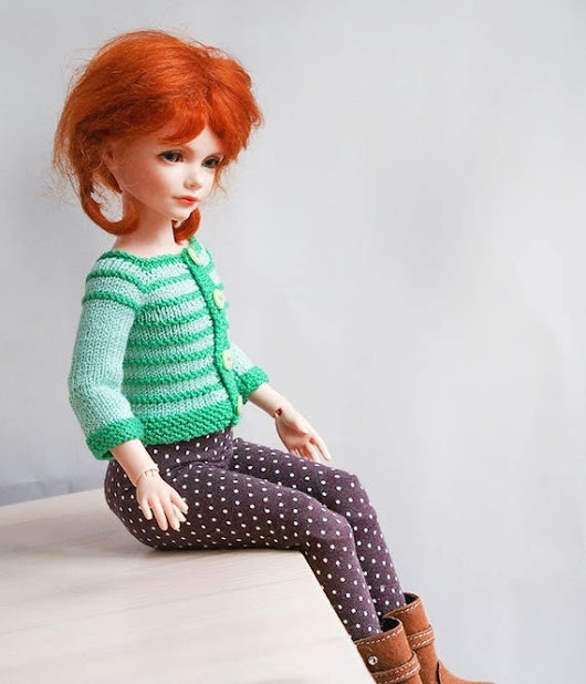 14-in Doll outfit sweater for BJD dolls CLOTHES for
