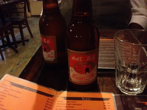 Hara beer at The Abyssinian