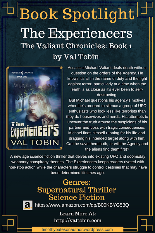 "Book Spotlight – ""The Experiencers"" by Val Tobin"