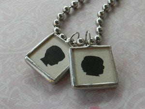 Image of silhouette soldered necklace
