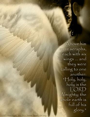 Inspirational illustration of Isaiah 6:2-3