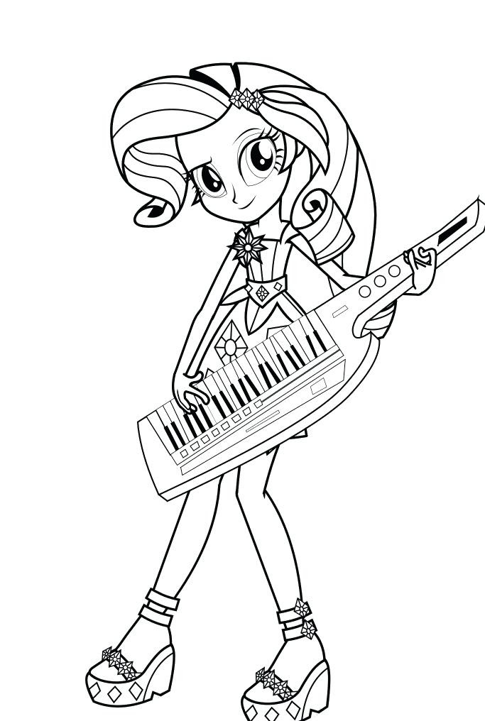 My Little Pony Girls Coloring Pages - Coloring And Drawing