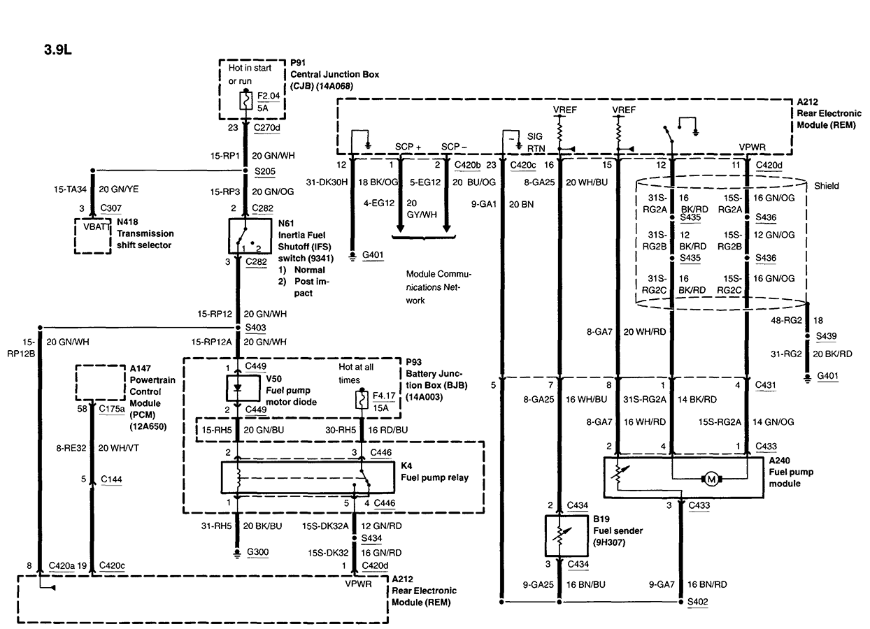2001 Lincoln Town Car Wiring Diagram