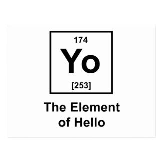Yo! The Element of Hello Post Cards