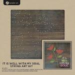 Hampton Art WDSA-202 It is Well - String Art Kit 10 x 10 in.