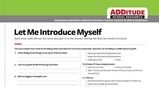 What I Wish My Teachers Knew About Me: A Free Template for Kids