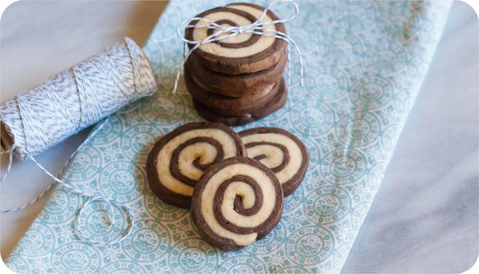 chocolate orange pinwheel cookies | bakeat350.blogspot.com
