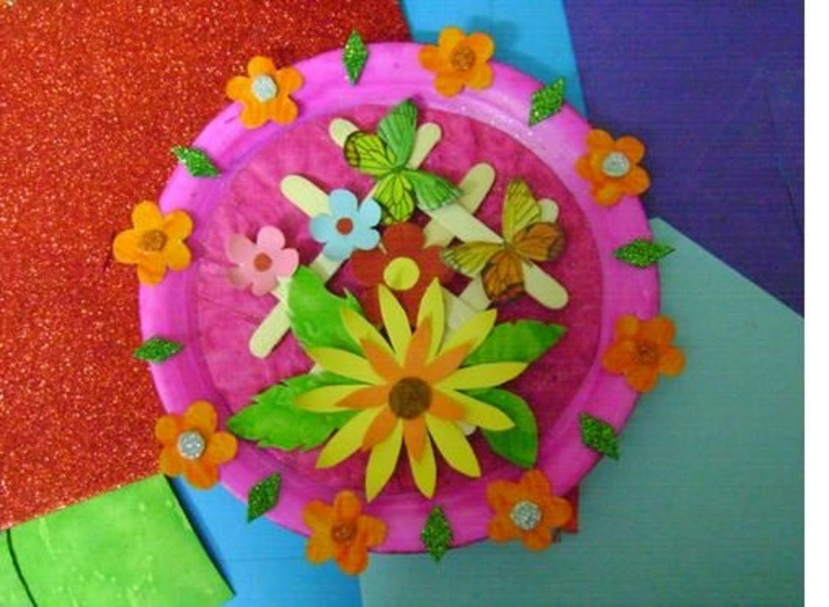 Best out of waste - Make a beautiful wall piece using paper plate