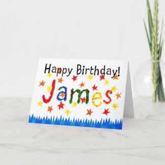 'James' Birthday Card card
