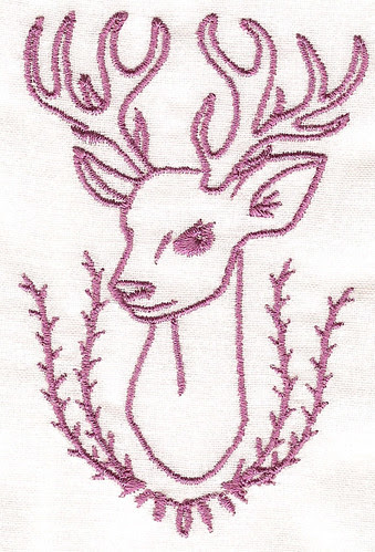 forest friends deer solid colour