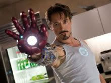 Robert Downey Jr. as scientist Tony Stark, a.k.a. Iron Man.