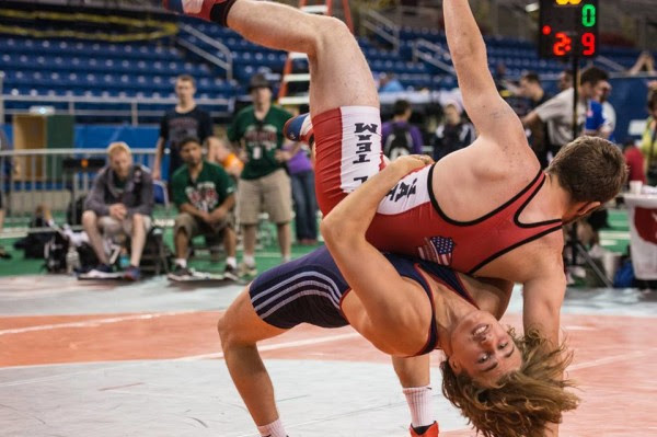 Jake Deutschlander (bottom) of the Hyde School in Bath is preparing to depart this week for Riga, Latvia, where the Minnesota native will represent Team USA as a Greco-Roman wrestler at the Latvian National Championships.