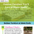 Outdoor Furniture You'll Love at iHome Studio