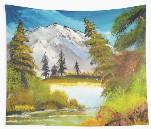 'Leaning Tree' Wall Tapestry by CCWillow