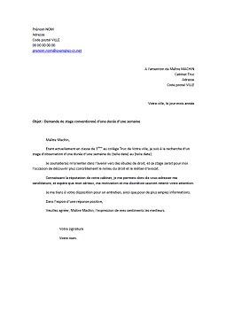 Lettre De Demande De Stage Chez Un Avocat   Job Application Letter