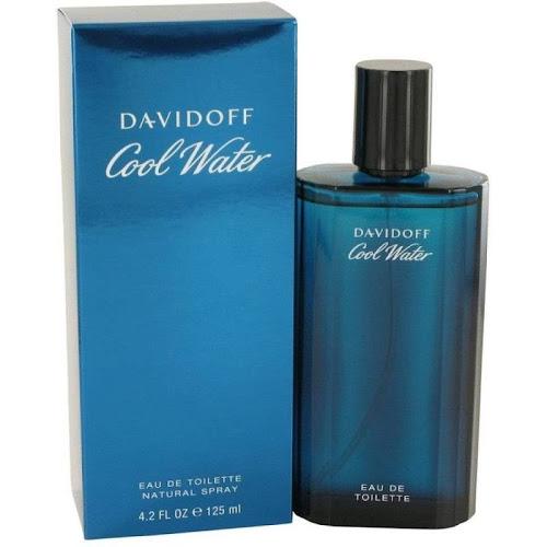 Cool Water by Davidoff Eau de Toilette Spray for Men - 4.2 fl oz bottle