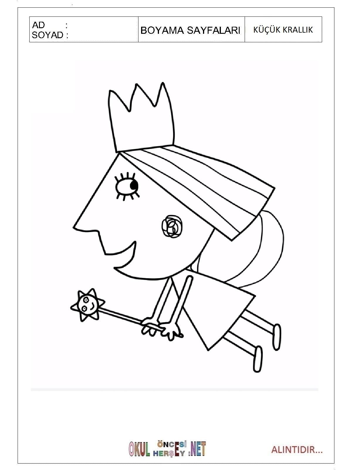 Küçük Krallık Boyama Sayfaları