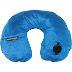 Travel Smart by Conair Ts44Nvy - EZ Inflate Fleece Neck Rest Navy
