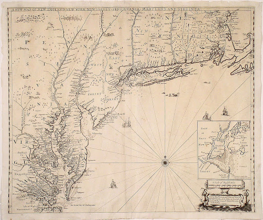 One of the finest 17th-century maps of the English Empire in America - Rare & Antique Maps