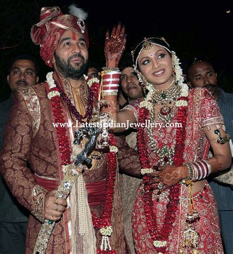Bollywood actress Shilpa Shetty's Wedding Jewellery