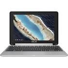 "ASUS Flip C101PA DB02 10.1"" Convertible Chromebook - Cortex A72 + Cortex A53 RK3399 - 4 GB RAM - 16 GB SSD - Silver"