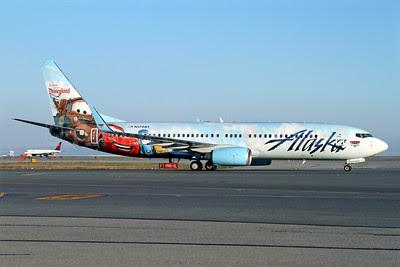 Alaska Airlines Boeing 737-890 WL N570AS (msn 35185) (Follow us to Disneyland Resort - Disney Cars) SFO (Mark Durbin). Image: 921236.