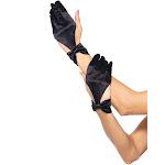 Leg Avenue Women's Satin Gloves, Black, One Size