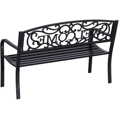 "Outsunny 50"" Welcome Vines Decorative Patio Garden Bench"